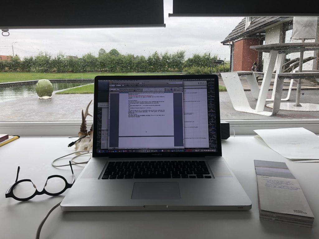 Piet Coucke Waarvan akte Pro forma auteur schrijfplaats 8